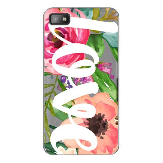 Blackberry Z10 Cases - LOVE Watercolor Floral