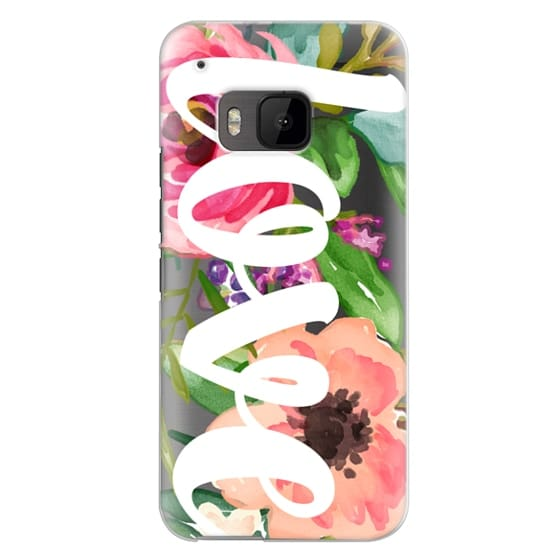 Htc One M9 Cases - LOVE Watercolor Floral