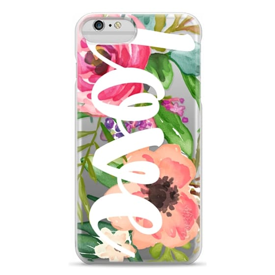 iPhone 6 Plus Cases - LOVE Watercolor Floral