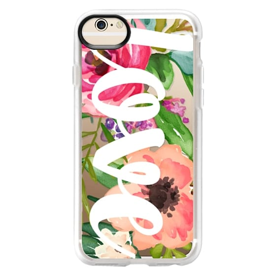 iPhone 6 Cases - LOVE Watercolor Floral