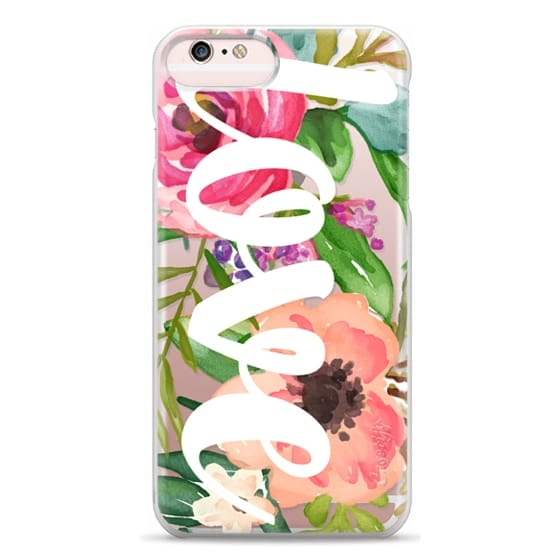 iPhone 6s Plus Cases - LOVE Watercolor Floral