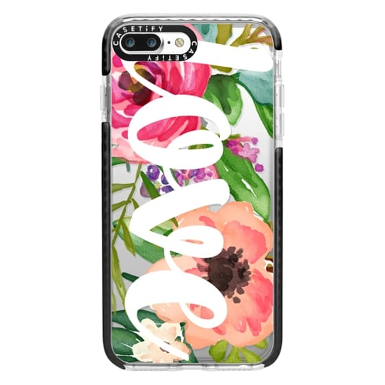 iPhone 7 Plus Cases - LOVE Watercolor Floral