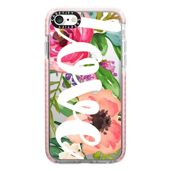 iPhone 7 Cases - LOVE Watercolor Floral