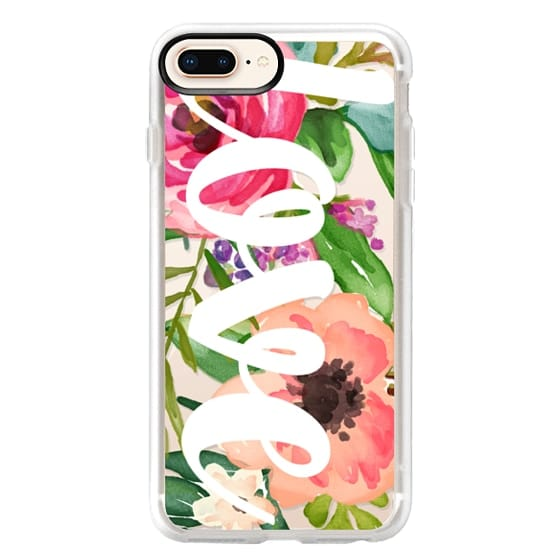 iPhone 8 Plus Cases - LOVE Watercolor Floral