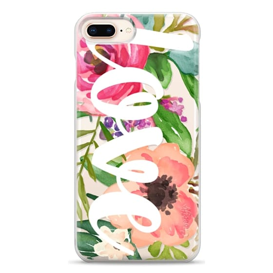 iPhone 8 Plus Cases - LOVE Watercolor Floral