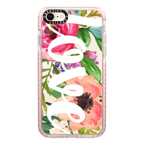 iPhone 8 Cases - LOVE Watercolor Floral