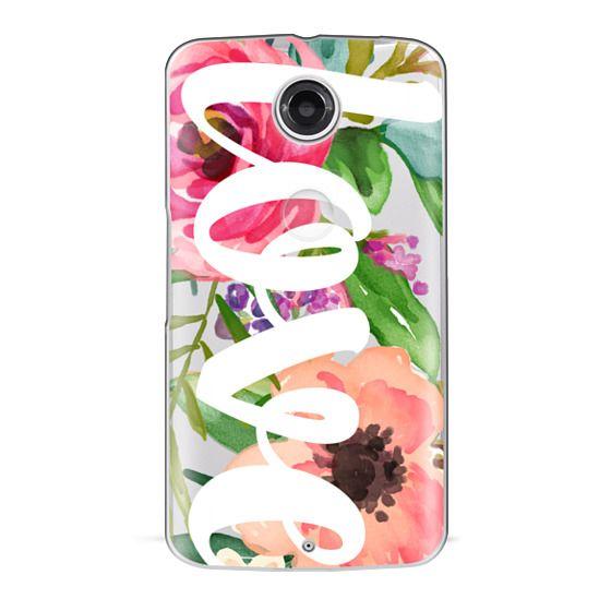 Nexus 6 Cases - LOVE Watercolor Floral