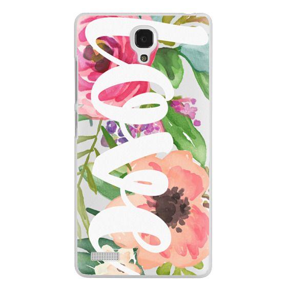 Redmi Note Cases - LOVE Watercolor Floral