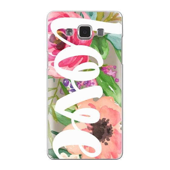 Samsung Galaxy A5 Cases - LOVE Watercolor Floral