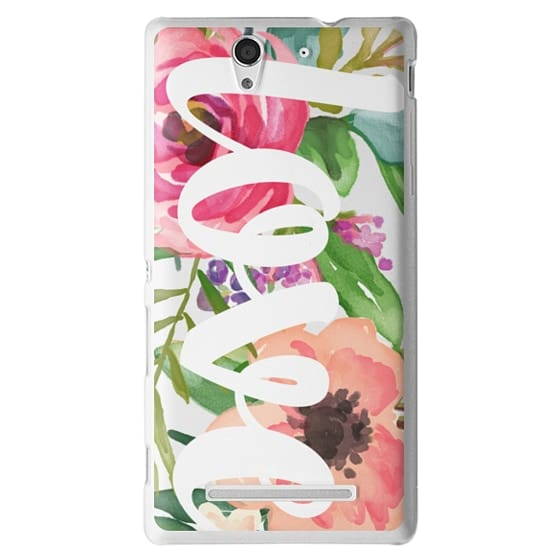 Sony C3 Cases - LOVE Watercolor Floral