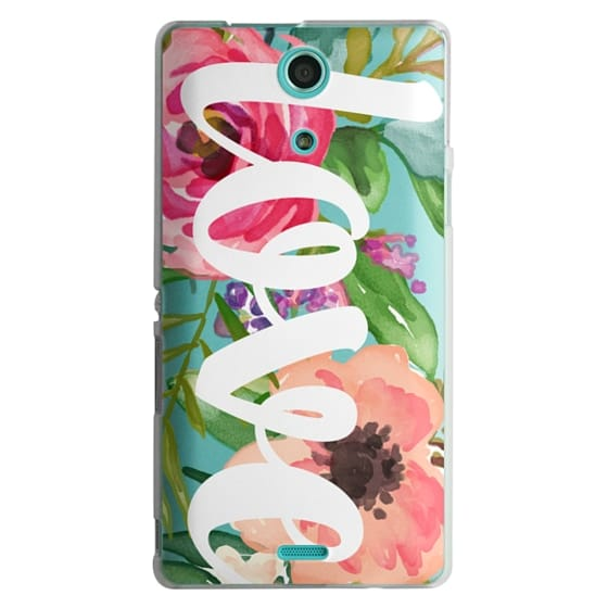 Sony Zr Cases - LOVE Watercolor Floral