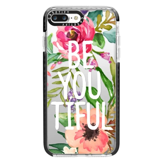 iPhone 7 Plus Cases - Be YOU Tiful Watercolor Floral