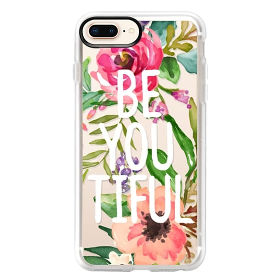 iPhone 8 Plus Cases - Be YOU Tiful Watercolor Floral