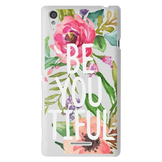 Sony T3 Cases - Be YOU Tiful Watercolor Floral