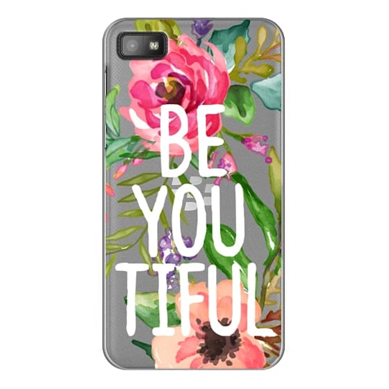 Blackberry Z10 Cases - Be YOU Tiful Watercolor Floral
