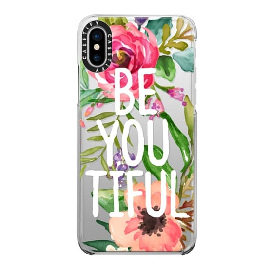 iPhone X Cases - Be YOU Tiful Watercolor Floral