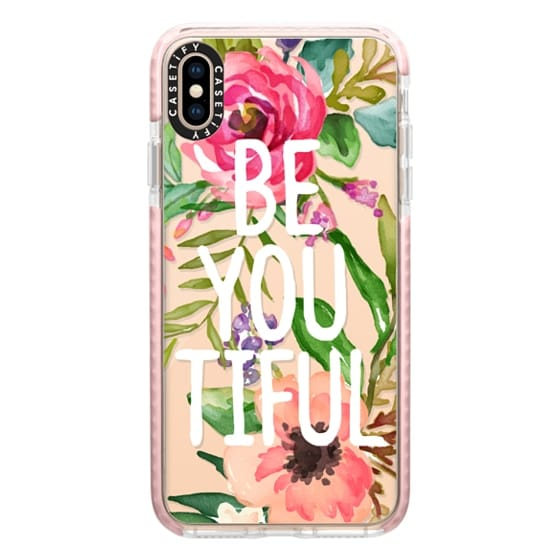iPhone XS Max Cases - Be YOU Tiful Watercolor Floral