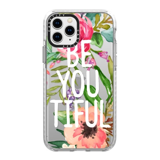 iPhone 11 Pro Cases - Be YOU Tiful Watercolor Floral