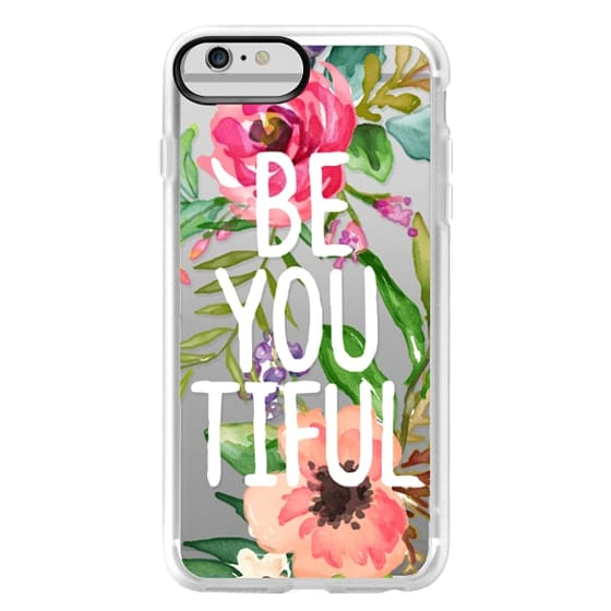 iPhone 6 Plus Cases - Be YOU Tiful Watercolor Floral