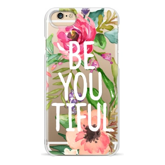 iPhone 6 Cases - Be YOU Tiful Watercolor Floral