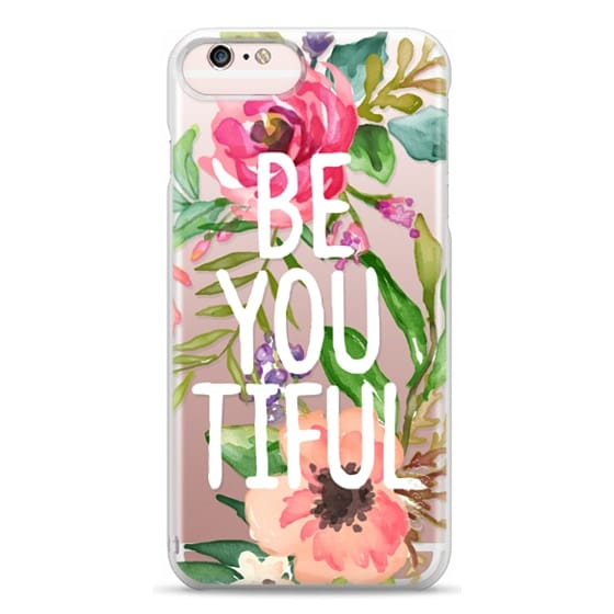 iPhone 6s Plus Cases - Be YOU Tiful Watercolor Floral