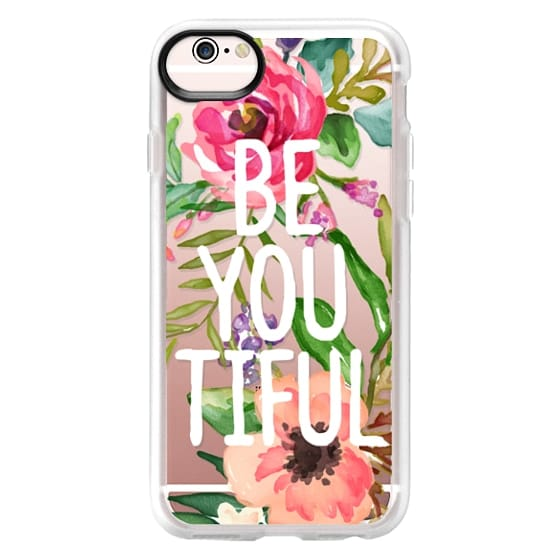 iPhone 6s Cases - Be YOU Tiful Watercolor Floral