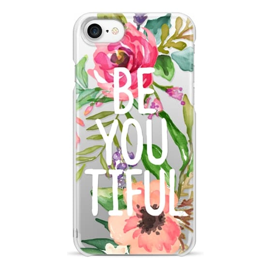 iPhone 7 Cases - Be YOU Tiful Watercolor Floral
