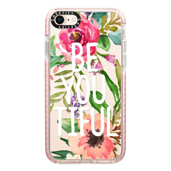 iPhone 8 Cases - Be YOU Tiful Watercolor Floral