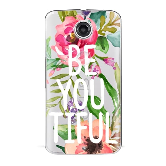 Nexus 6 Cases - Be YOU Tiful Watercolor Floral