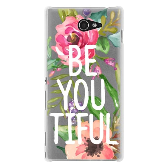 Sony M2 Cases - Be YOU Tiful Watercolor Floral