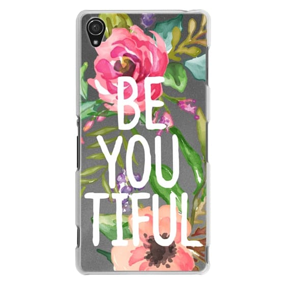 Sony Z3 Cases - Be YOU Tiful Watercolor Floral