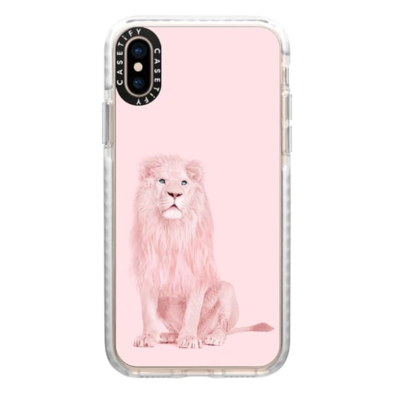 iPhone XS Cases - pink lion