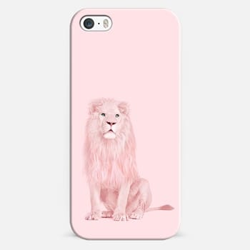 iPhone 5s Case pink lion