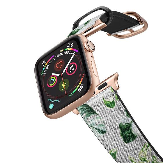 CASETiFY Apple Watch Band (42mm/44mm) Saffiano Leather Watchband V4 - BOTANICAL PLANTS