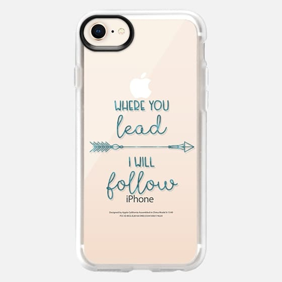 Where you lead- I will follow - Gilmore Girls - Transparent - Snap Case