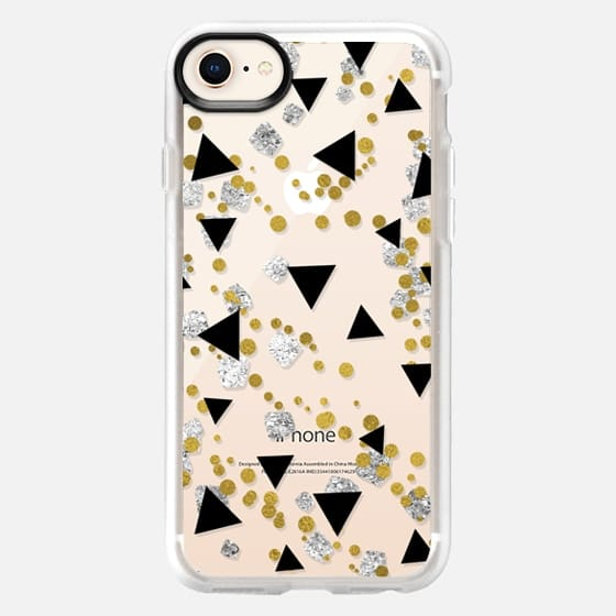 NEW YEARS CONFETTI GOLD BLACK SILVER - Snap Case
