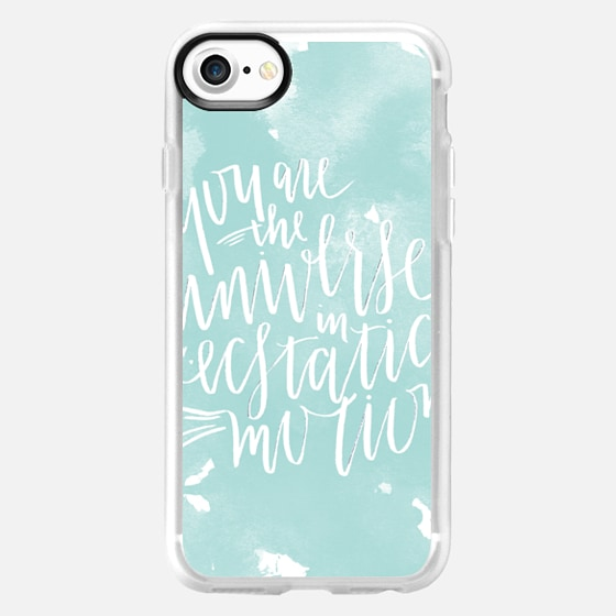 You Are The Universe - White on Aqua - Wallet Case