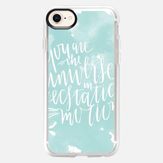 You Are The Universe - White on Aqua - Snap Case