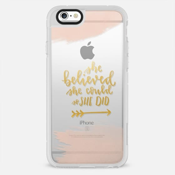 She Believed She Could So She Did - Watercolor & Gold - New Standard Case