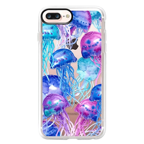 iPhone 7 Plus Cases - Watercolor Jellyfish