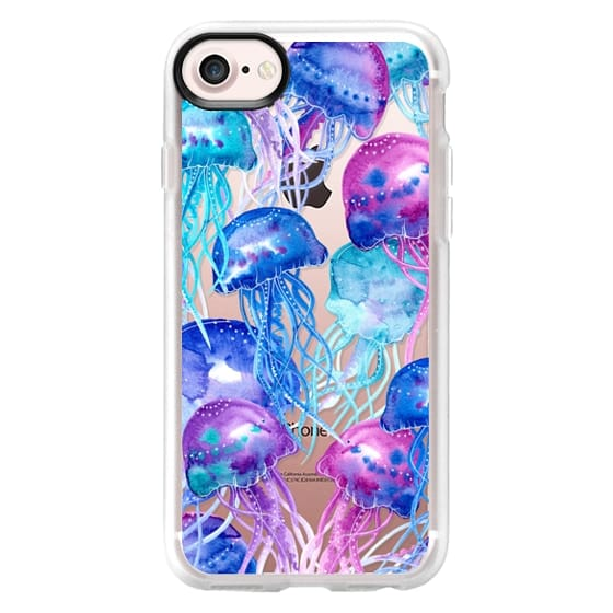 iPhone 4 Cases - Watercolor Jellyfish