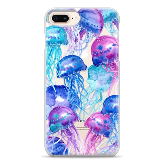 iPhone 8 Plus Cases - Watercolor Jellyfish