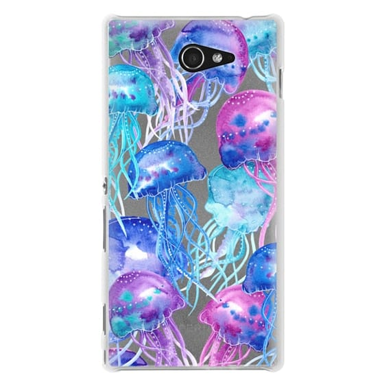 Sony M2 Cases - Watercolor Jellyfish