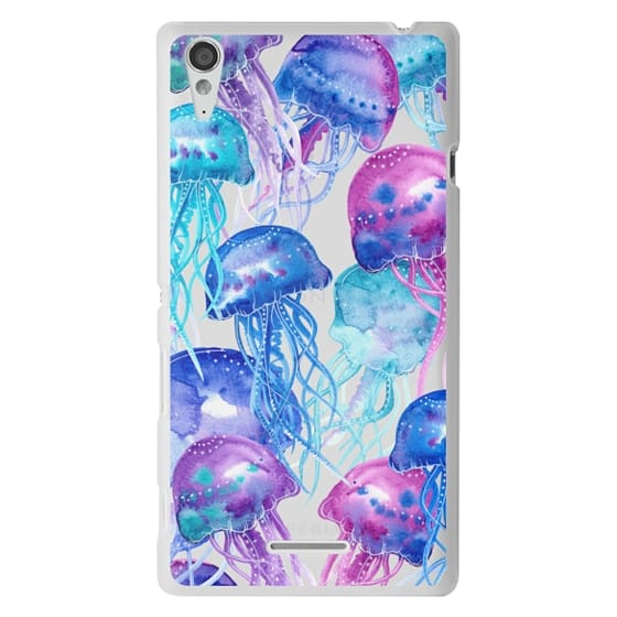 Sony T3 Cases - Watercolor Jellyfish