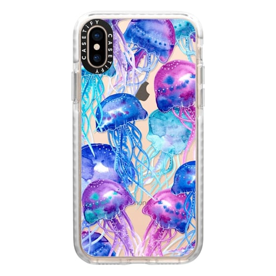 iPhone XS Cases - Watercolor Jellyfish