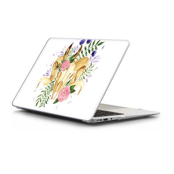 MacBook Air 13 Sleeves - Floral Boho Rams Skull