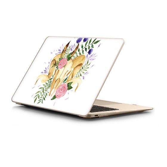 MacBook 12 Sleeves - Floral Boho Rams Skull