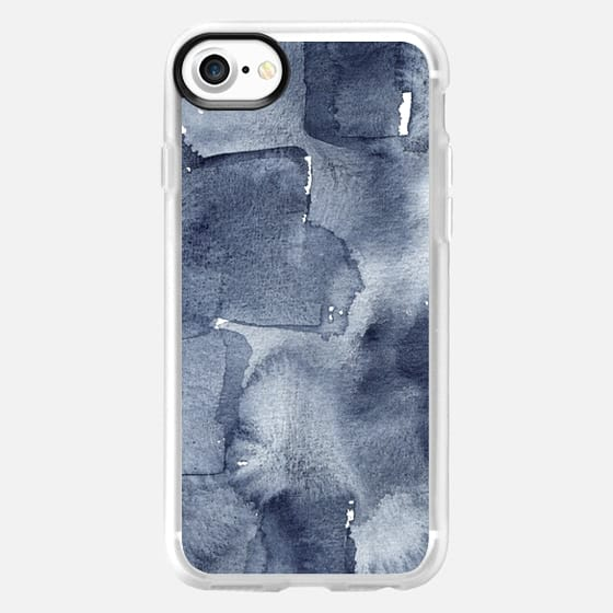 Indigo Watercolor - Snap Case