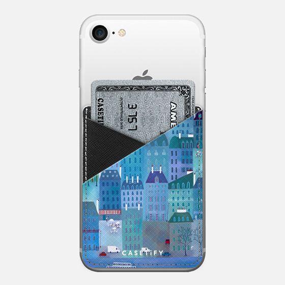 Paris Blues - Saffiano Leather Phone Wallet