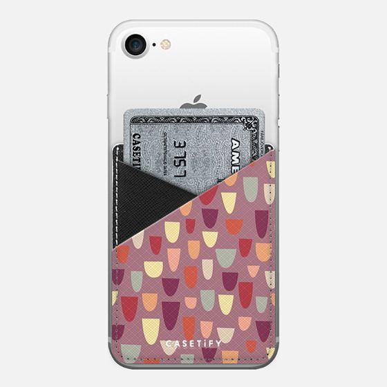 Nougat - Saffiano Leather Phone Wallet
